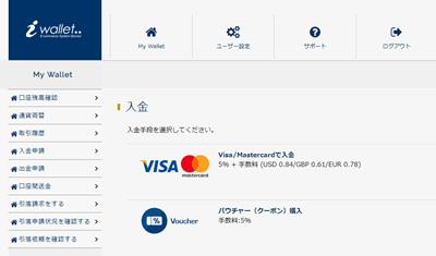 iwallet クレジットカード入金方法1