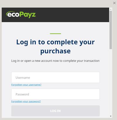 カジノシークレット ecoPayz からの入金方法2
