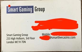 スマートライブカジノの名刺