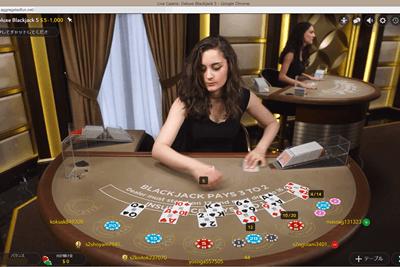 クイーンカジノのライブカジノ