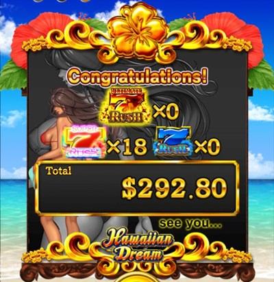 hawaiian dream を実際にプレイ8
