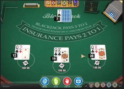 ブラックジャックを実際にプレイ4