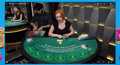 ベラジョンカジノの画面