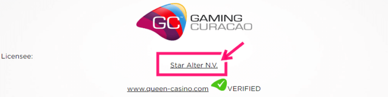 クイーンカジノのゲーミングライセンス